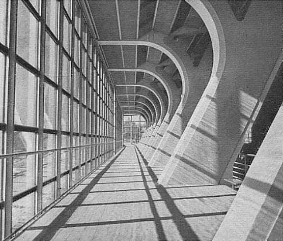 Plavecký stadion v Praze - Podolí od Richarda F. Podzemného z let 1959 - 1965.