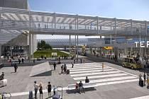 Vizualizace budoucí podoby letiště v Ruzyni.