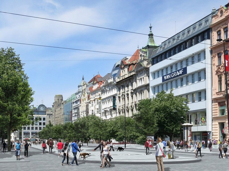 Revitalizace Václavského náměstí v Praze.