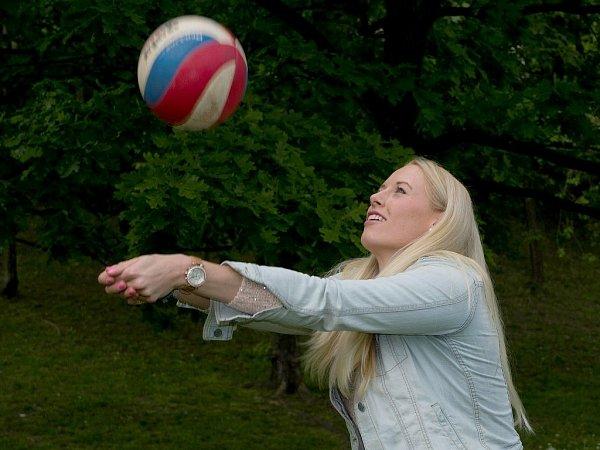 Česká volejbalová reprezentantka Barbora Purchartová.