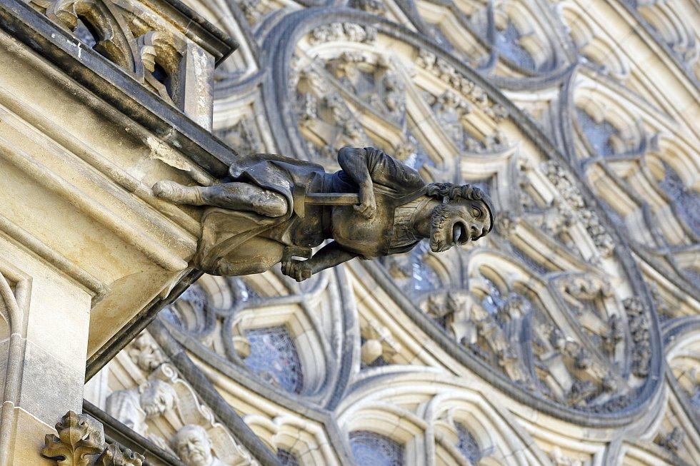 Chrlič na katedrále sv. Víta.