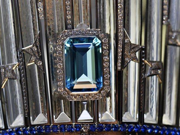 Společnost Diamonds International Corporation (DIC) představila v úterý 10. listopadu 2015 v Praze výstavu, na které jsou k vidění investiční diamanty v hodnotě stovek milionů korun. Na snímku je diamantová korunka Miss Universe.