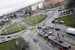 Doprava na Vítězném náměstí.