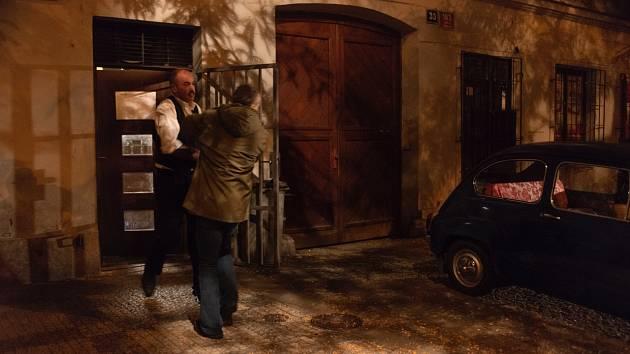 Z natáčení filmu o Václavu Havlovi.