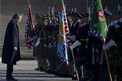 Oslavy Dne válečných veteránů na pražském Vítkově.
