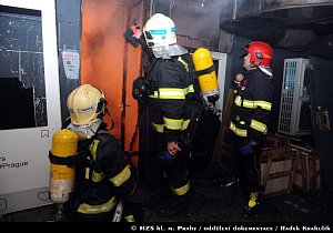 Požár v ulici Bílkova na Praze 1