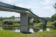 Opravy pražských mostů, Lávka pro pěší v Tróji, 15.8.2017