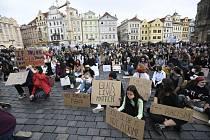 Demonstrace proti rasismu v Praze.