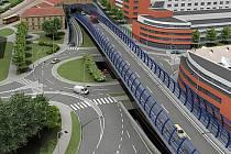 Vizualizace úseku tunelu Blanka II.