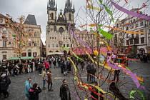 Velikonoční trhy na pražském Staroměstském náměstí 13. března