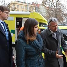 Zdravotnická záchranná služba Středočeského kraje. Na snímku Jaroslava Jermanová, Martin Kupka a Martin Houdek.