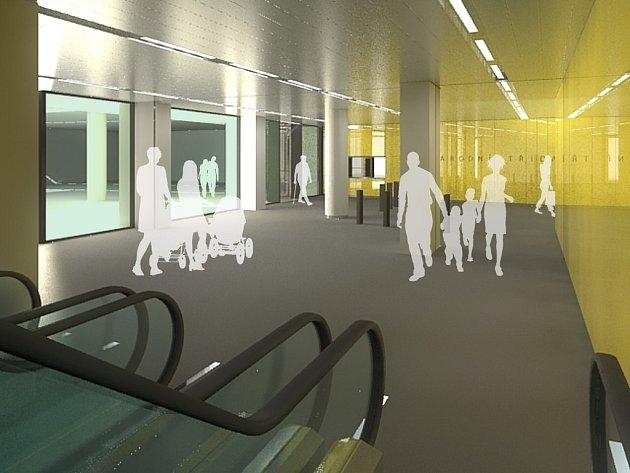 Tak by měl vypadat vestibul metra Národní po dokončení Copa Centra.