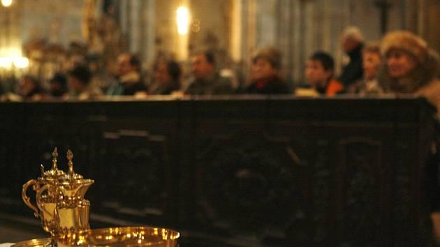 Mše v katedrále sv. Víta. Ilustrační foto.