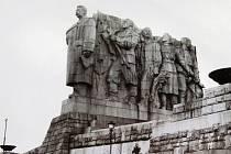 Stalin – pomník na Letné.
