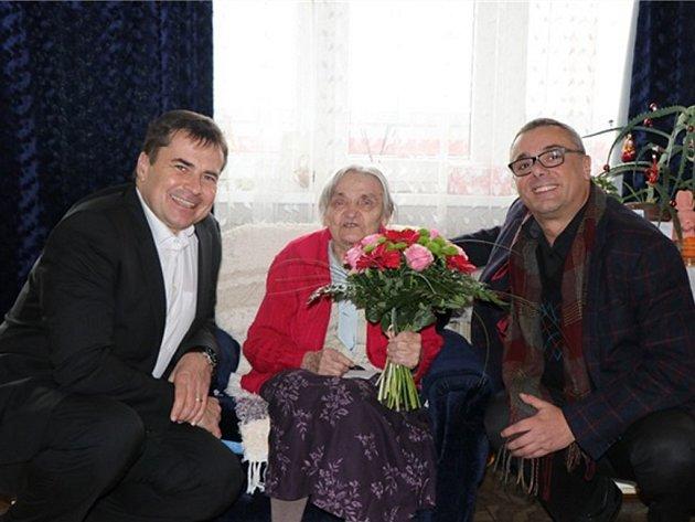 Paní Ludmila Kudelová oslavila 103 narozeniny.