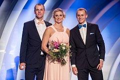 Vyhlášení ankety Atlet roku proběhlo 11. listopadu v Praze. Petr Frydrych, Jakub Vadlejch a Barbora Špotáková.