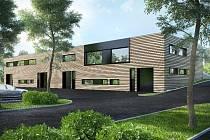 Společnost Barrandov Studio zahájí v únoru příštího roku na pražském Barrandově provoz nové rekvizitárny a kostymérny (vizualizace)