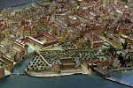 Velkou část ostrova zabírala Michnovská zahrada patřící k paláci Michny z Vacínova. Model zachycuje stav zhruba uprostřed 150tiletého období, kdy objekt využívalo vojsko a palác velmi zchátral.