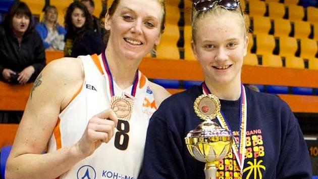 MATKA A DCERA. Pražské basketbalistky Petra a Julia Reisingerovy.