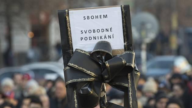 Protest proti EET. Ilustrační foto.