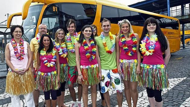 Student Agency představila 22. listopadu 2010 v Praze propagační kampaň na exotické zájezdy od portálu DOVOLENA.CZ.