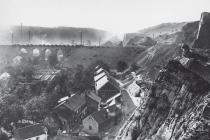 Hlubočepy - Celkový pohled od Žvahova Pohlednice, foto J. Němec, před rokem 1918