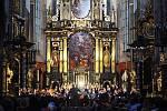 Z koncertu Barokního orchestru Pražské konzervatoře.