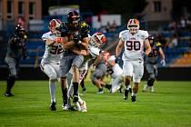 Ve šlágru nejvyšší soutěže v americkém fotbalu porazili jihlavští Gladiators v souboji favoritů pražské Lions.