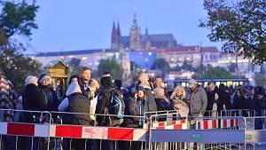 Poslední rozloučení s Karlem Gottem v Praze