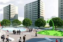 Nová tvář zrestaurovaného sídliště v Letňanech. Zatím jen v představách architektů, ale letošní jaro by mělo dát inovaci vzhledu do pohybu.