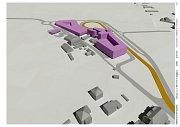 Vizualizace návrhu tramvajové tratě Podbaba - Suchdol a okolí.