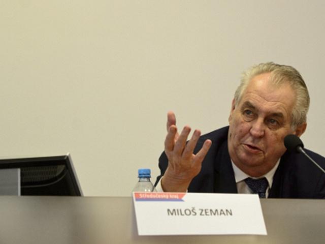 Miloš Zeman na návštěvě Středočeského kraje.