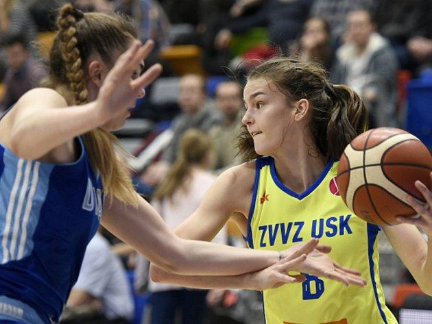 Utkání 11. kola skupiny A Evropské ligy basketbalistek: ZVVZ USK Praha - Dynamo Kursk.