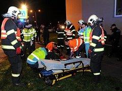 Dopravní nehoda ve Slévačské ulici v pražském Hloubětíně.