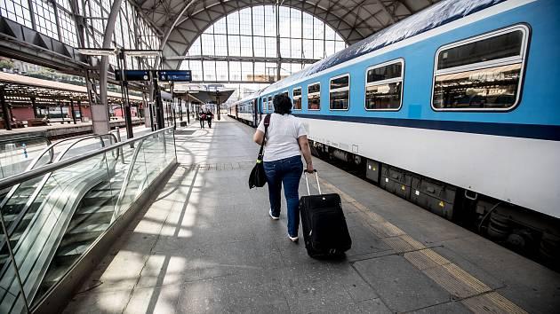 Pražského hlavního nádraží.