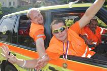 Z mezinárodní soutěže záchranných služeb Rallye Rejvíz.