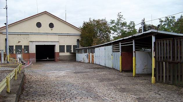 Bývalá Vozovna Královské Vinohrady (či Vozovna Orionka) v Praze.