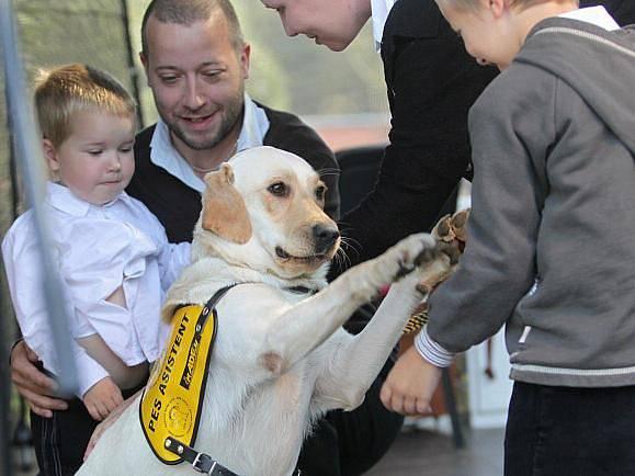 Středisko Helppes v sobotu předalo dalších jedenáct speciálně vycvičených psů novým majitelům.
