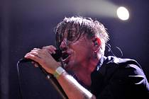 Zpěvák Benjamin Kowalewicz z kanadské punkrocková skupina Billy Talent.