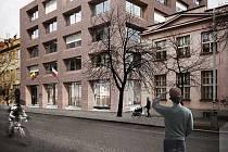 Návrh nové radnice pro Prahu 7.