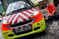 První elektromobil Pražské záchranné služby Smart ED byl představen a uveden do provozu 27. ledna v centru Prahy.