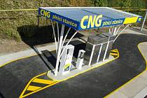 Plnící stanice CNG v Praze