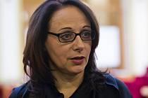 Kandidátka na pražskou primátorku Adriana Krnáčová při ustavujícím zasedání zastupitelstva.