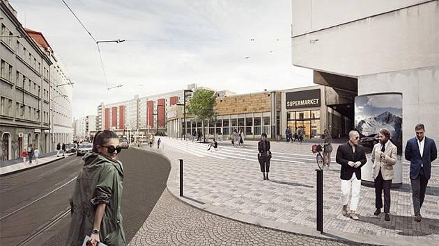 Vizualizace veřejného prostoru ulic Seifertova - Táboritská