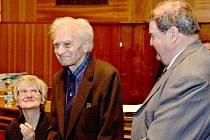 Vernisáži k výstavě Nesmíme zapomenout: Jan Opletal a další oběti listopadu 1939 se zúčastnil také dosud žijící student Vojmír Srdečný.