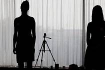 Casting na soutěž Miss Academia v pražském hotelu Hilton.