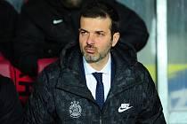 Fotbalové utkání HET ligy mezi celky AC Sparta Praha a FC Slovan Liberec 18. února v Praze. Andrea Stramaccioni.