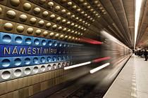 Metro Náměstí Míru. Ilustrační foto.