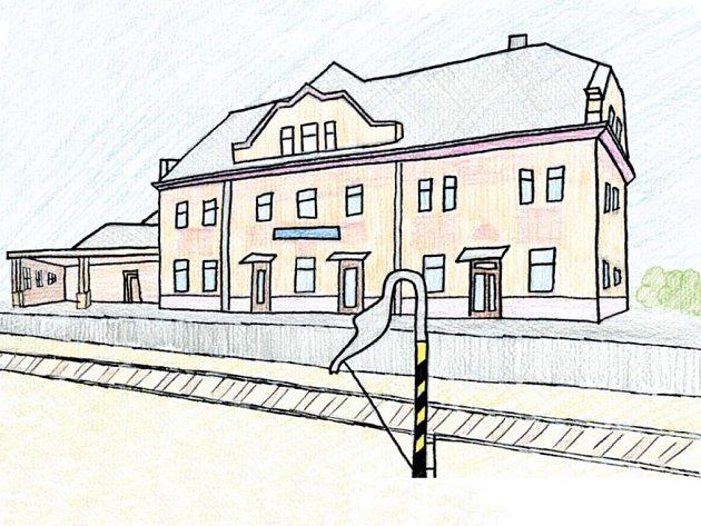 Konec starých časů. Jedna z ilustrací Janise Mahbouliho v knize Pohádky z nádraží.
