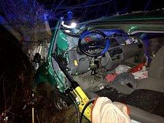 Noční nehoda na Kladensku